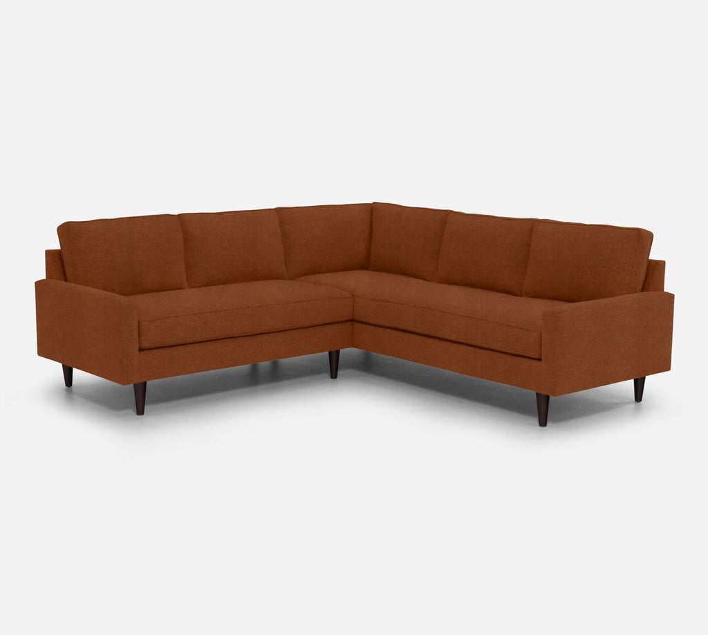 Holland LAF Corner Sectional - Passion Suede - Rust