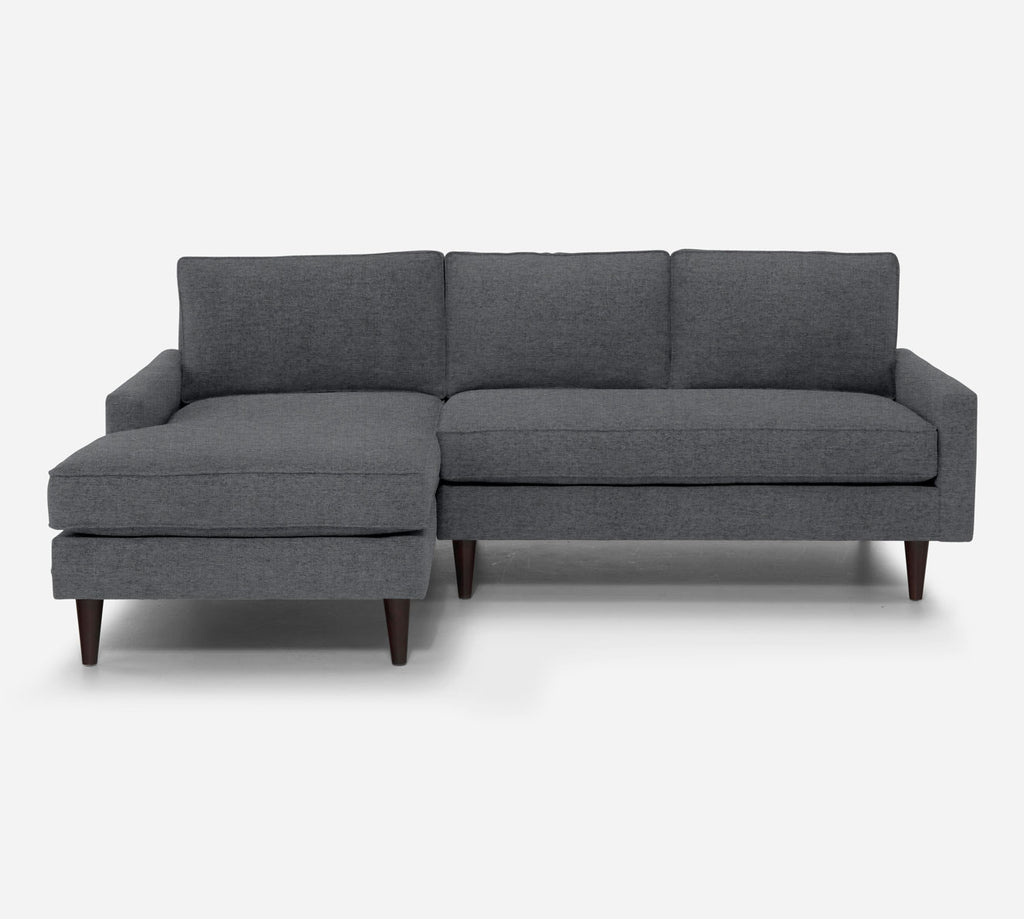 Holland Sectional Apartment Sofa w/ LAF Chaise - Coastal - Steel