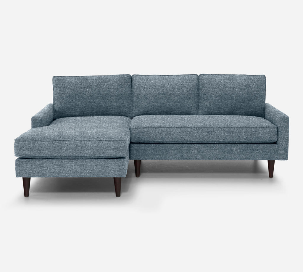 Holland Sectional Apartment Sofa w/ LAF Chaise - Stardust - Lapis