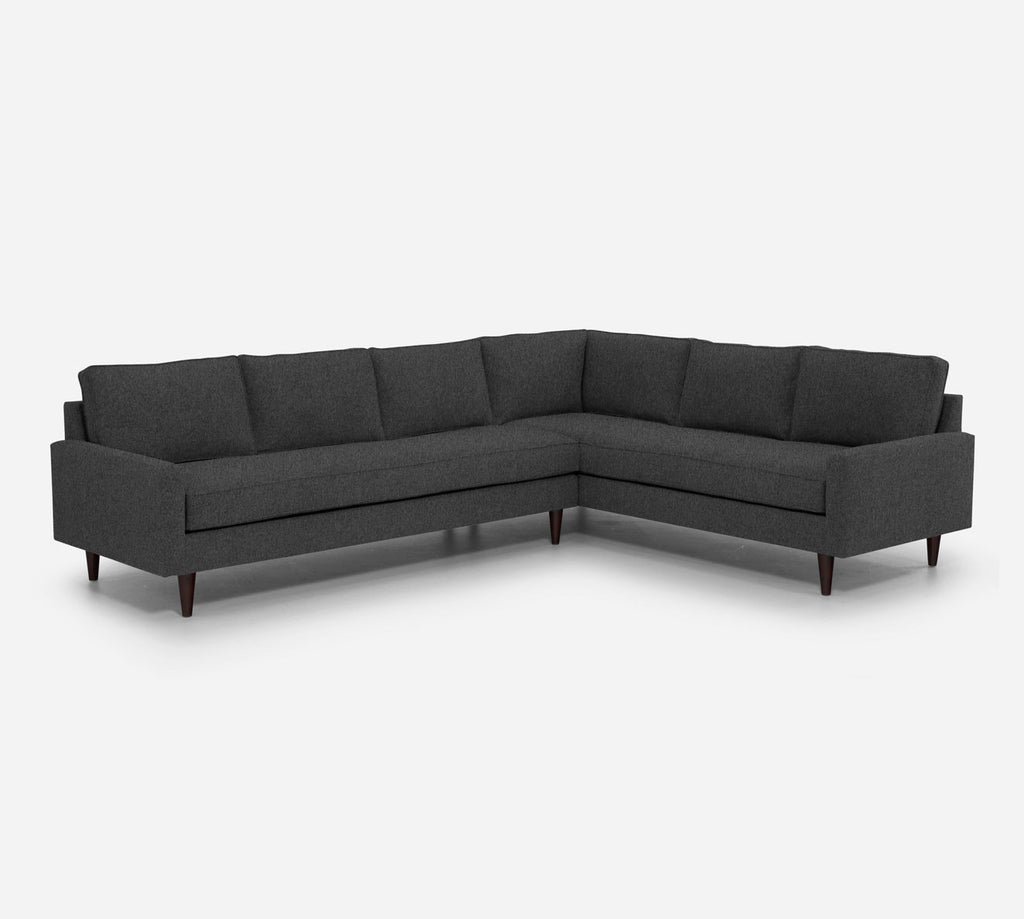 Holland LAF Large Corner Sectional - Dawson - Gunmetal