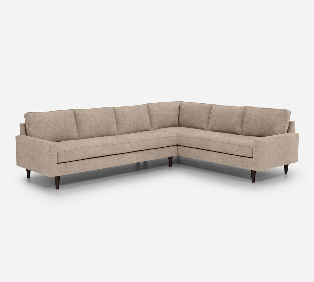 Holland LAF Large Corner Sectional - Passion Suede - Camel