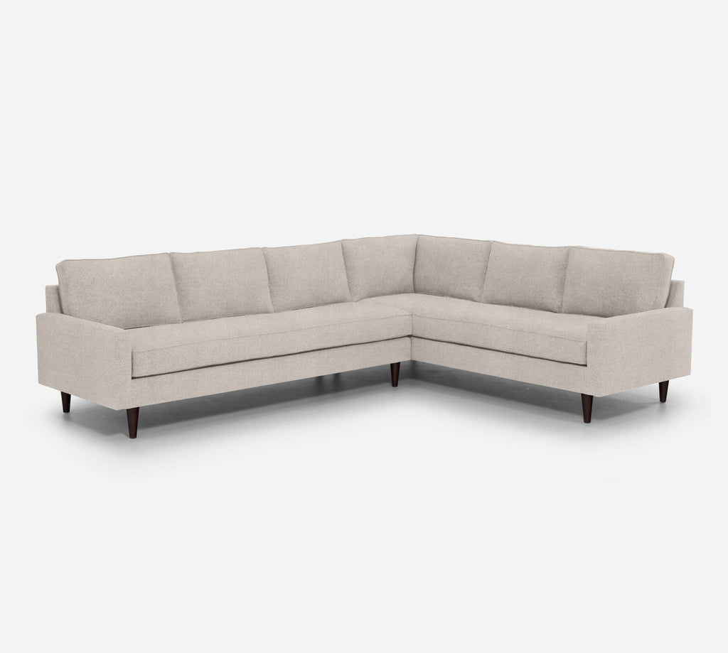 Holland LAF Large Corner Sectional - Passion Suede - Oyster