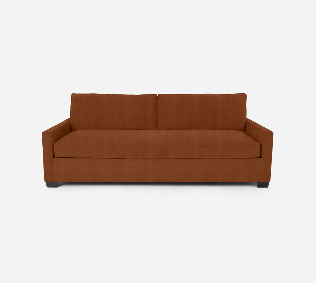 Holland 2 Seat Sleeper Sofa - Passion Suede - Rust