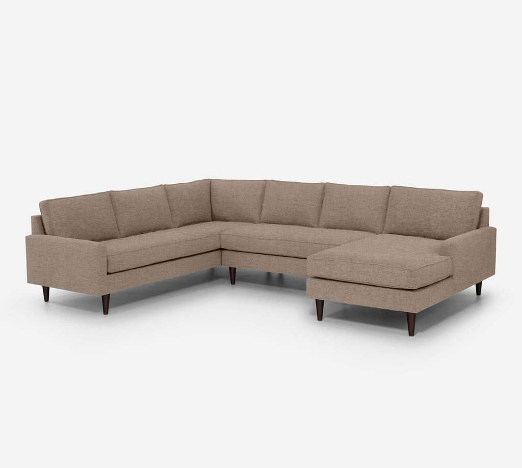 Holland RAF Chaise Corner Sectional - Coastal - Cashew