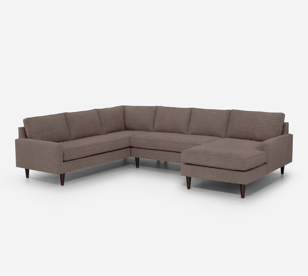 Holland RAF Chaise Corner Sectional - Heritage - Pebble