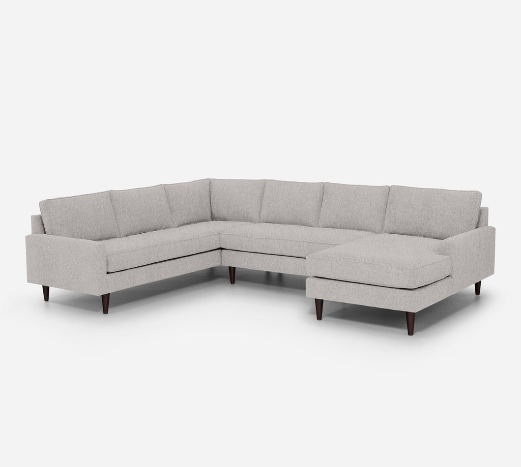 Holland RAF Chaise Corner Sectional - Kenley - Moondust