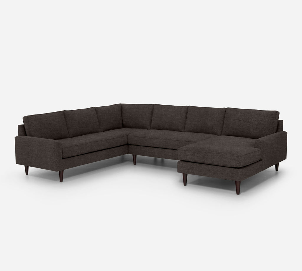 Holland RAF Chaise Corner Sectional - Key Largo - Mocha