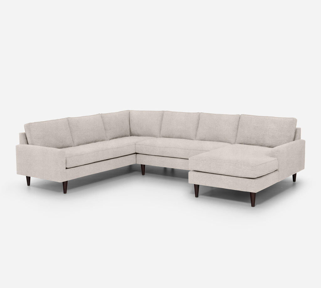 Holland RAF Chaise Corner Sectional - Passion Suede - Oyster