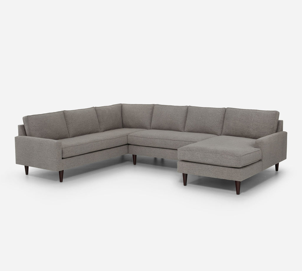 Holland RAF Chaise Corner Sectional - Stardust - Fossil