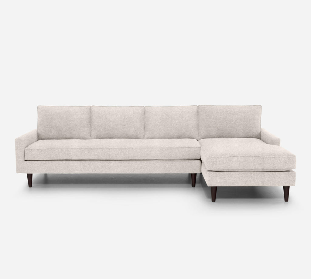 Holland RAF Chaise Sectional - Passion Suede - Oyster