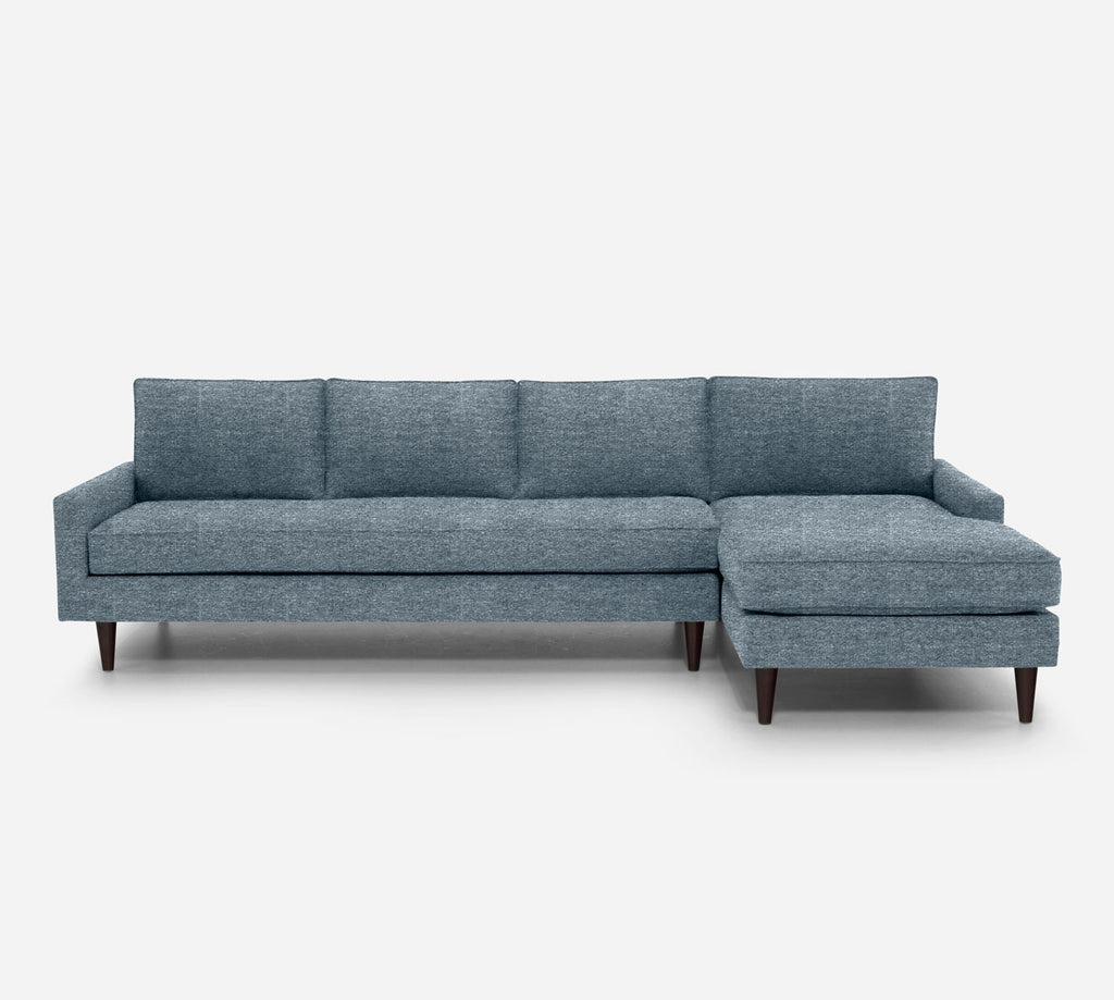 Holland RAF Chaise Sectional - Stardust - Lapis