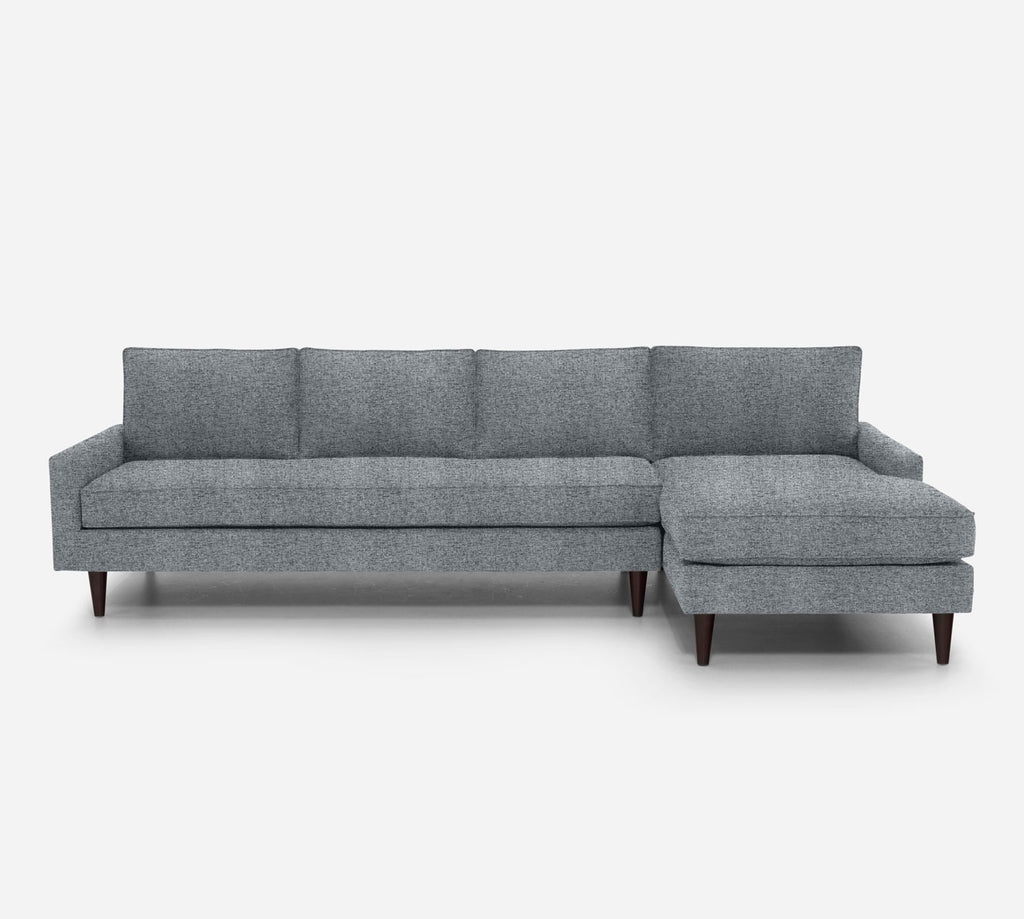 Holland RAF Chaise Sectional - Theron - Haze