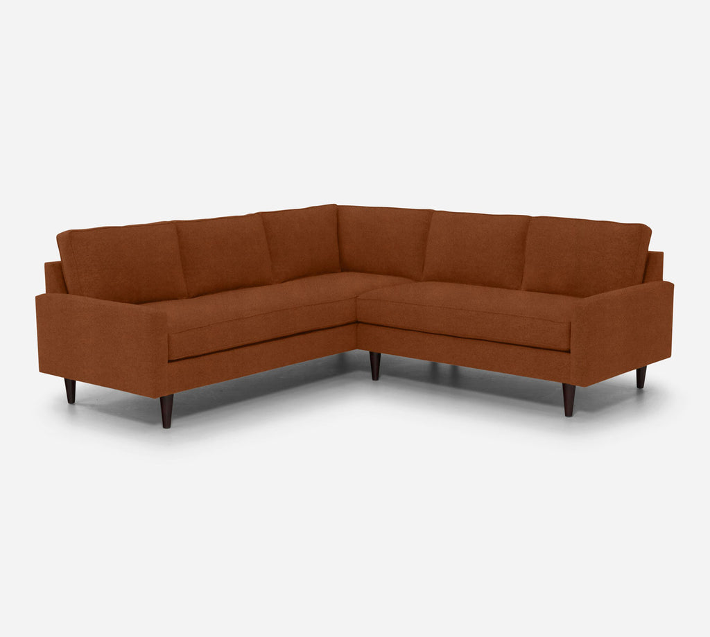 Holland RAF Corner Sectional - Passion Suede - Rust