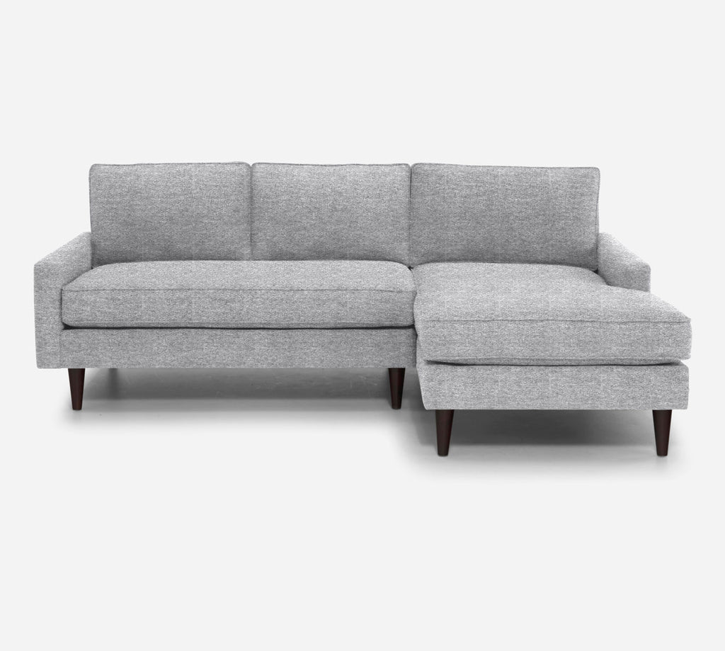 Holland Sectional Apartment Sofa w/ RAF Chaise - Stardust - Domino