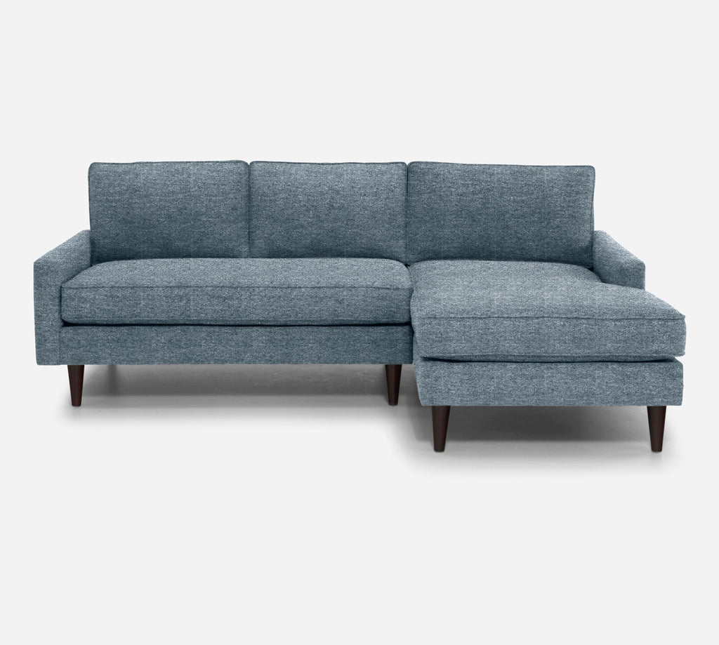 Holland Sectional Apartment Sofa w/ RAF Chaise - Stardust - Lapis