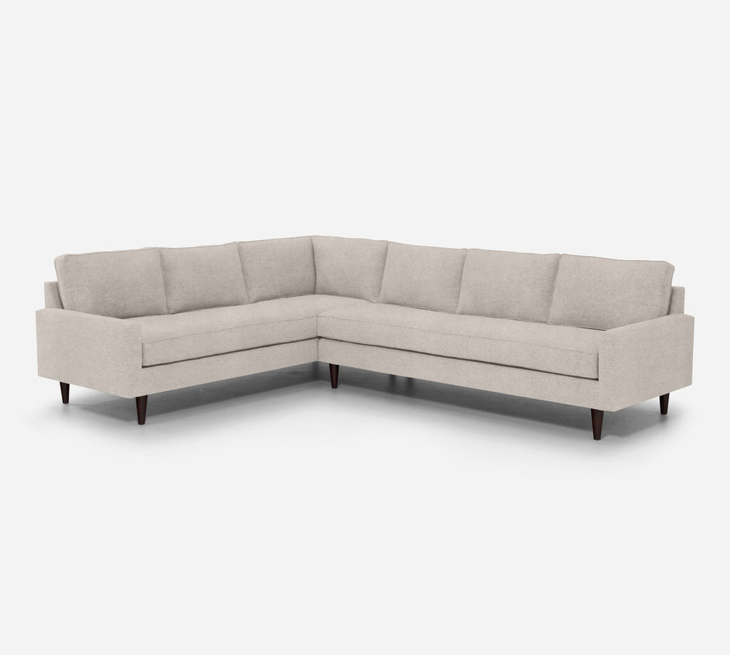 Holland RAF Large Corner Sectional - Passion Suede - Oyster