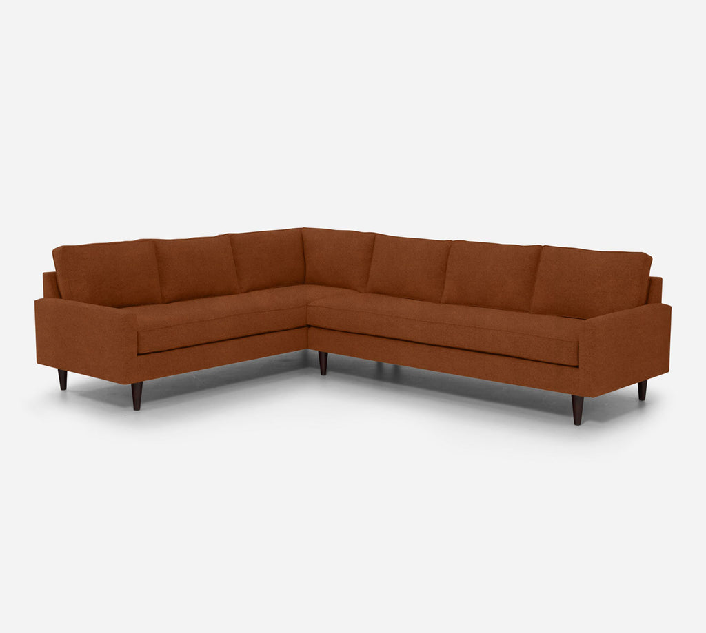 Holland RAF Large Corner Sectional - Passion Suede - Rust