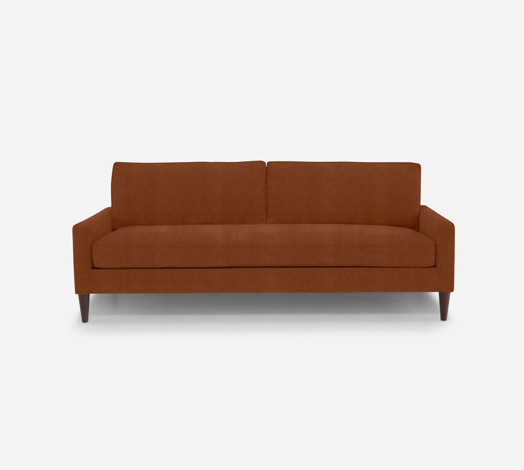 Holland 2 Seat Sofa - Passion Suede - Rust
