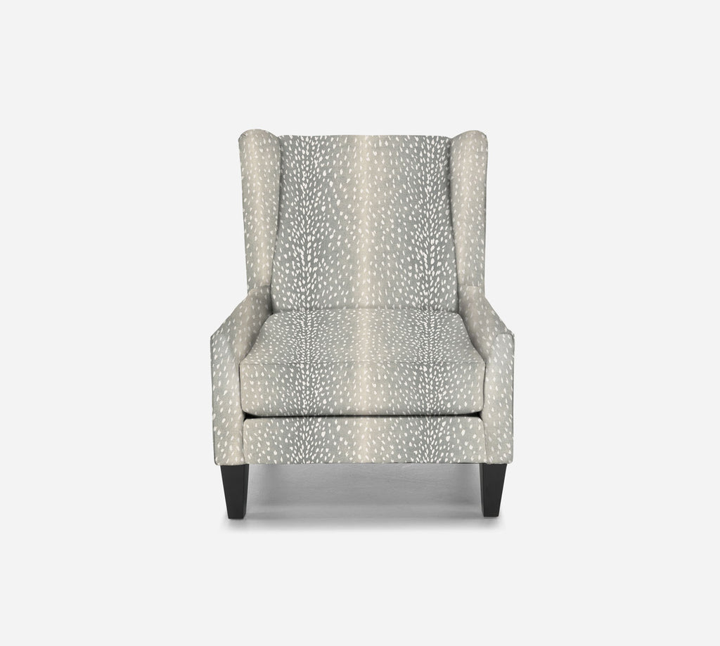 Iris Wingback Chair - Animal Instinct - AQUA