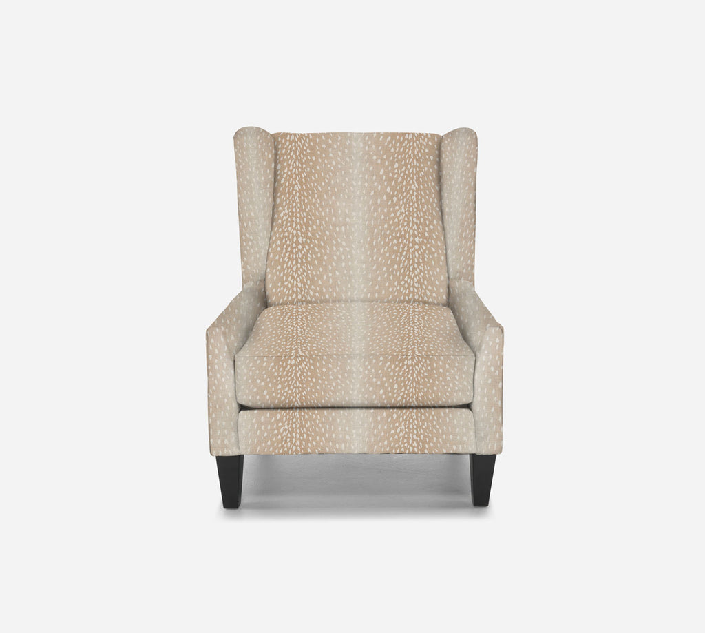 Iris Wingback Chair - Animal Instinct - BLUSH