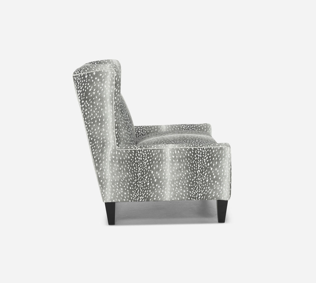 Iris Wingback Chair - Animal Instinct - CHARCOAL