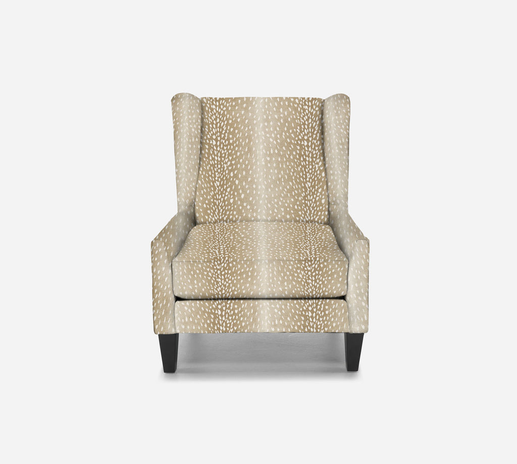 Iris Wingback Chair - Animal Instinct - FAWN