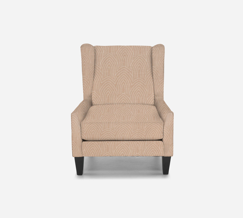 Iris Wingback Chair - Cathedral - BLUSH