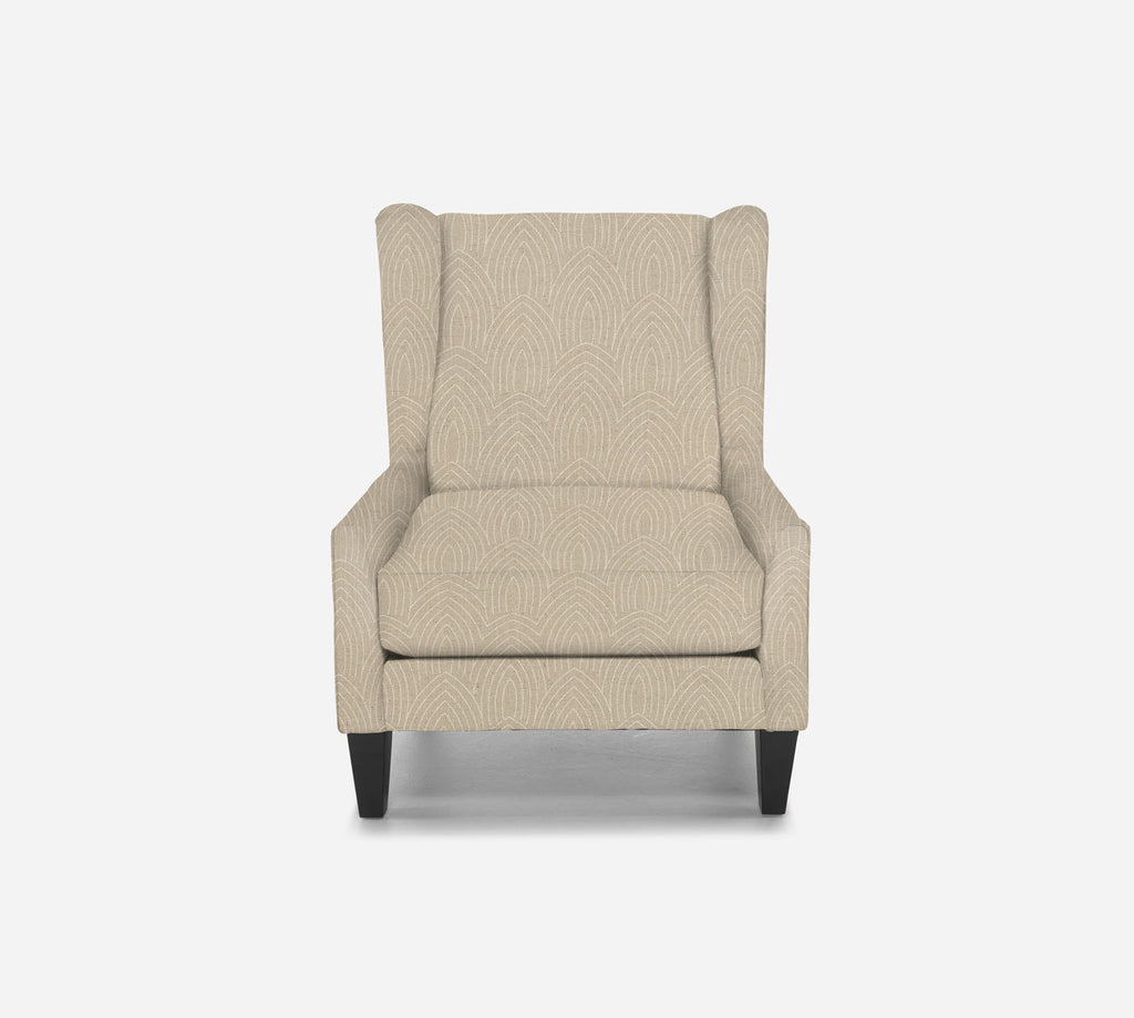 Iris Wingback Chair - Cathedral - LINEN