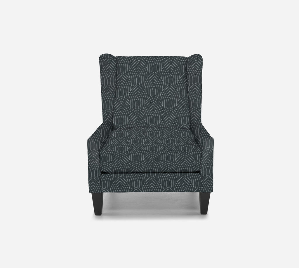 Iris Wingback Chair - Cathedral - SLATE