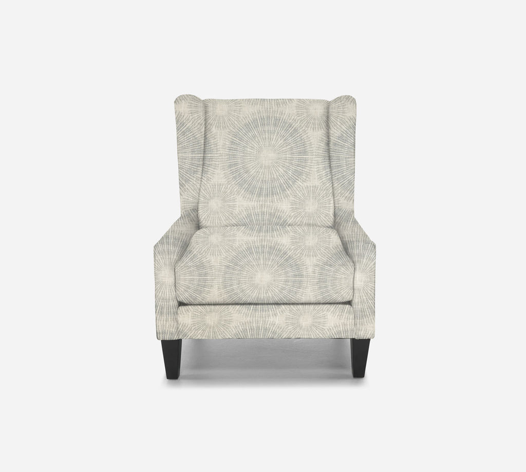 Iris Wingback Chair - Fireworks - ICE