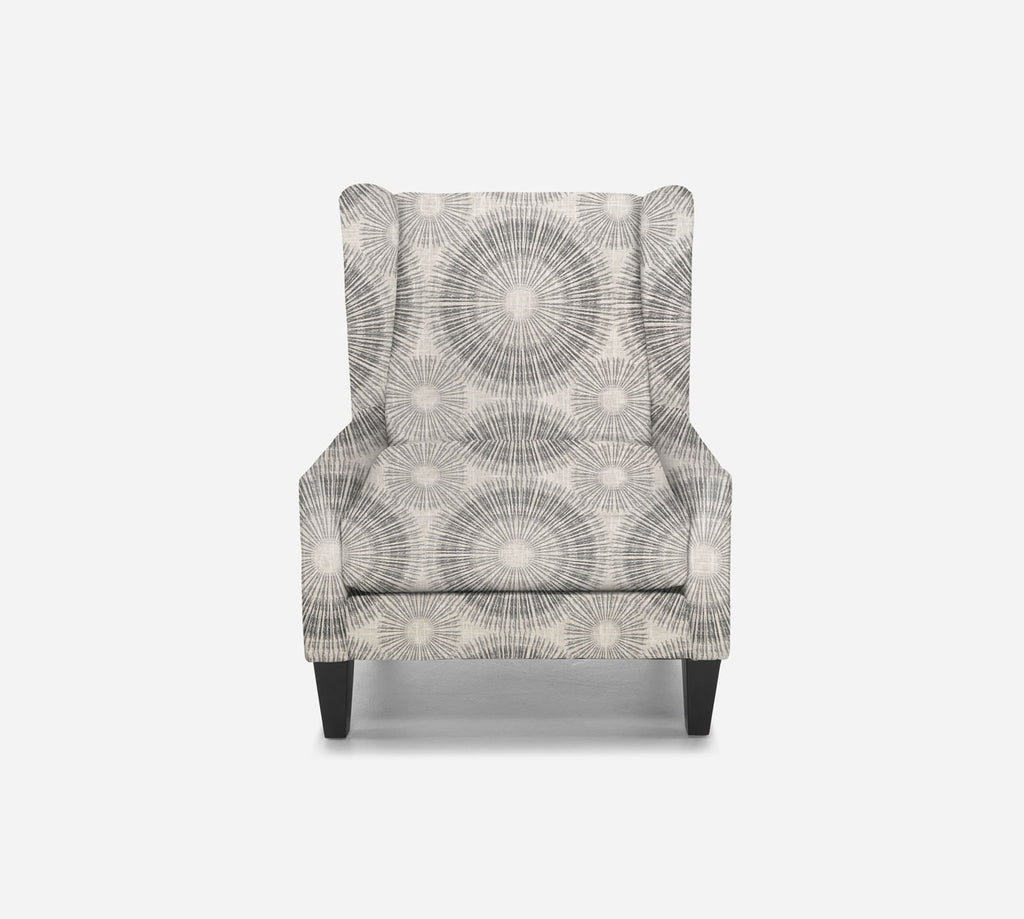 Iris Wingback Chair - Fireworks - NAVY