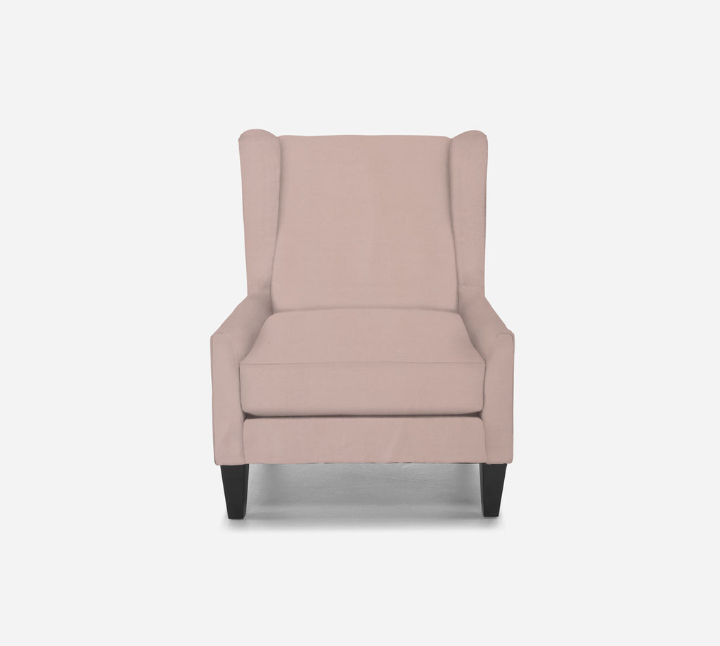 Iris Wingback Chair - Modern Velvet - BLUSH