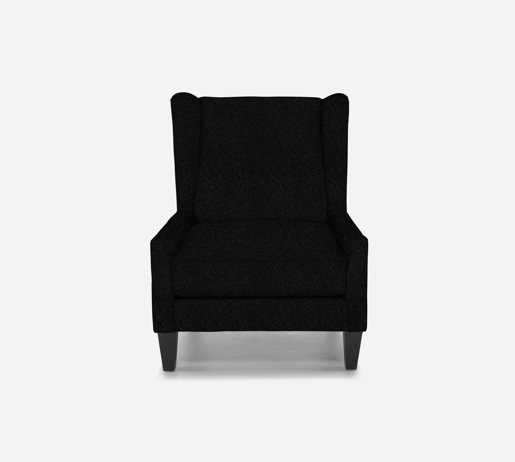 Iris Wingback Chair - Sheepskin - BLACK