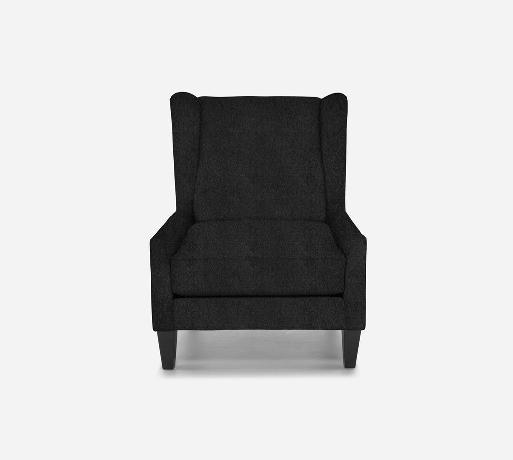 Iris Wingback Chair - Sheepskin - CHARCOAL