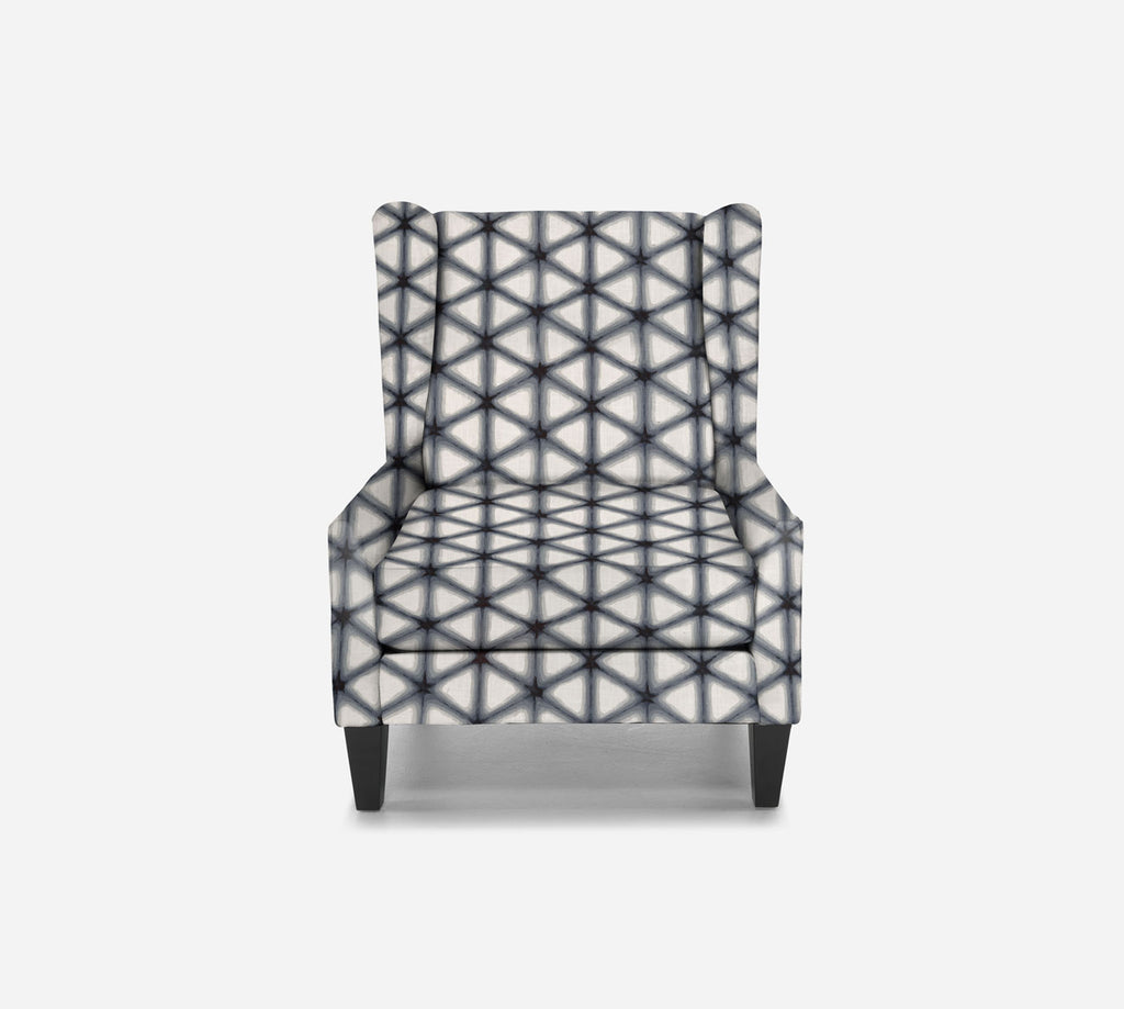 Iris Wingback Chair - Shibori - INK