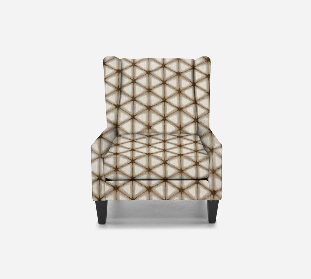 Iris Wingback Chair - Shibori - IRONWOOD