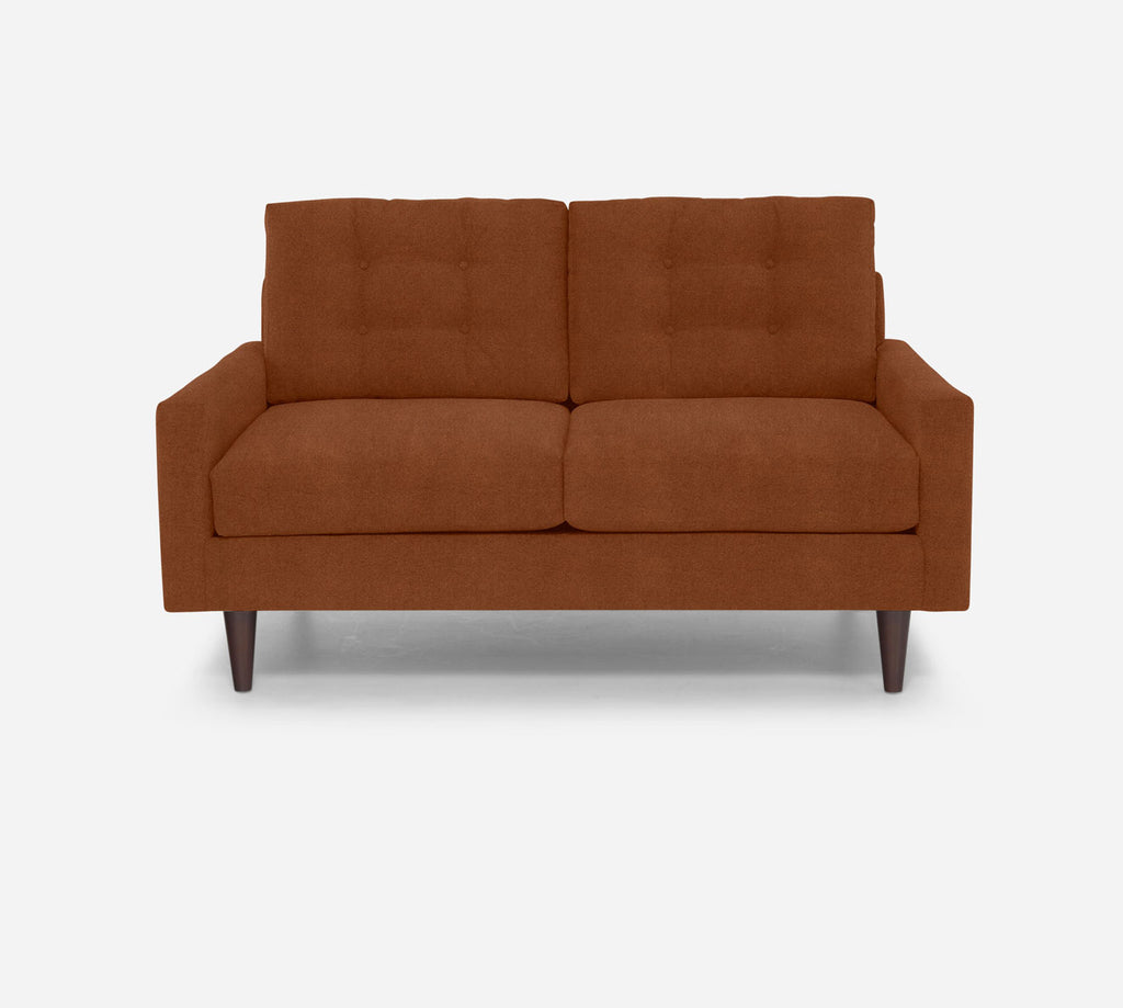 Taylor Loveseat - Passion Suede - Rust