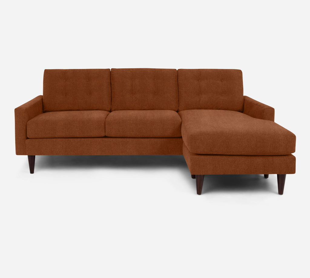 Taylor Sofa with Chaise- RHF - Passion Suede - Rust