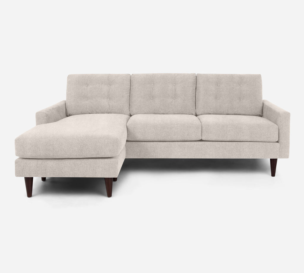 Taylor Sofa with Chaise- LHF - Passion Suede - Oyster