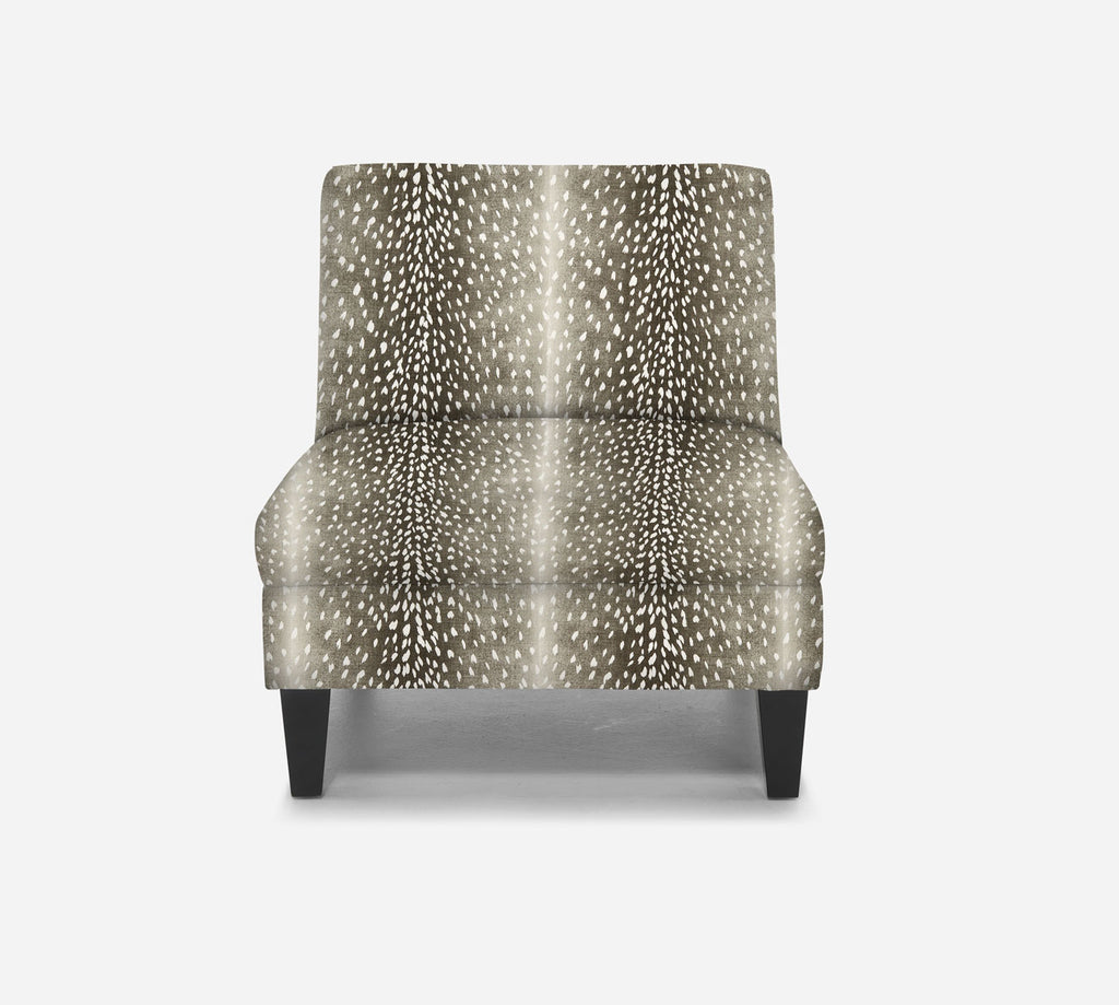 Kennedy Armless Accent Chair - Animal Instinct - CHARCOAL