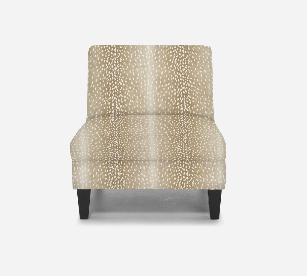 Kennedy Armless Accent Chair - Animal Instinct - FAWN