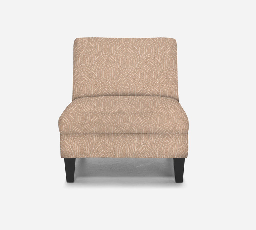 Kennedy Armless Accent Chair - Cathedral - BLUSH