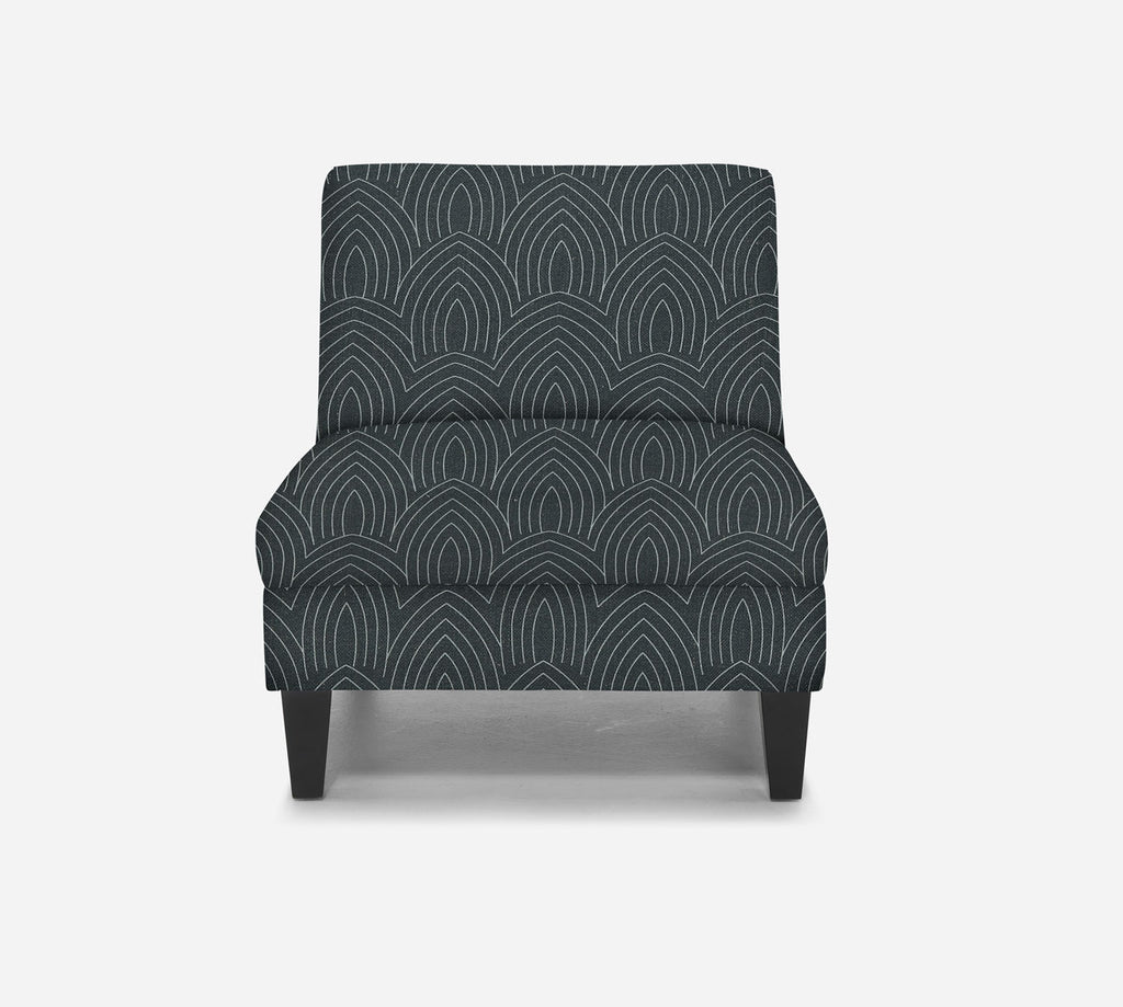 Kennedy Armless Accent Chair - Cathedral - SLATE