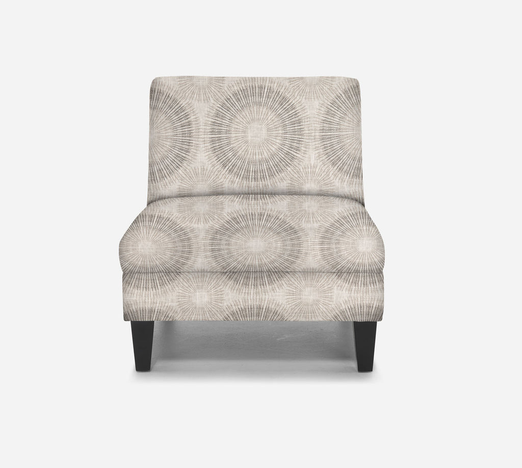 Kennedy Armless Accent Chair - Fireworks - MARBLE