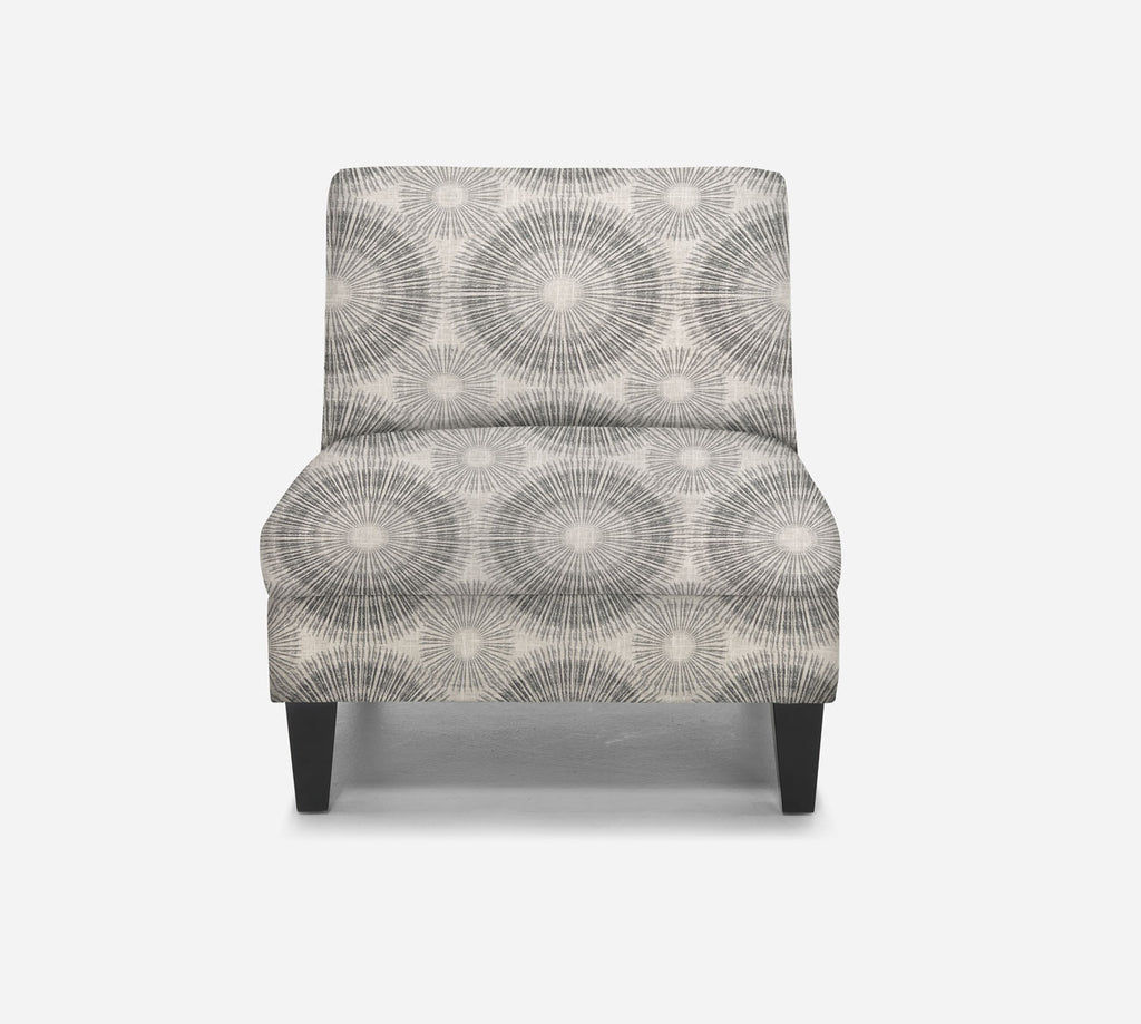 Kennedy Armless Accent Chair - Fireworks - NAVY