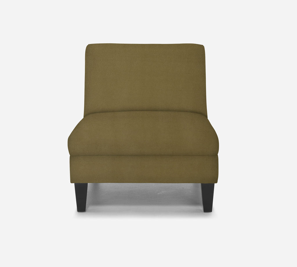Kennedy Armless Accent Chair - Modern Velvet - ALOE