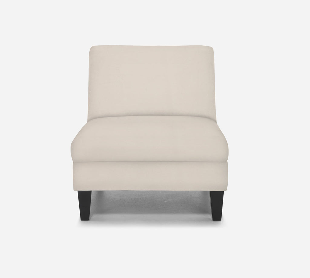 Kennedy Armless Accent Chair - Modern Velvet - IVORY