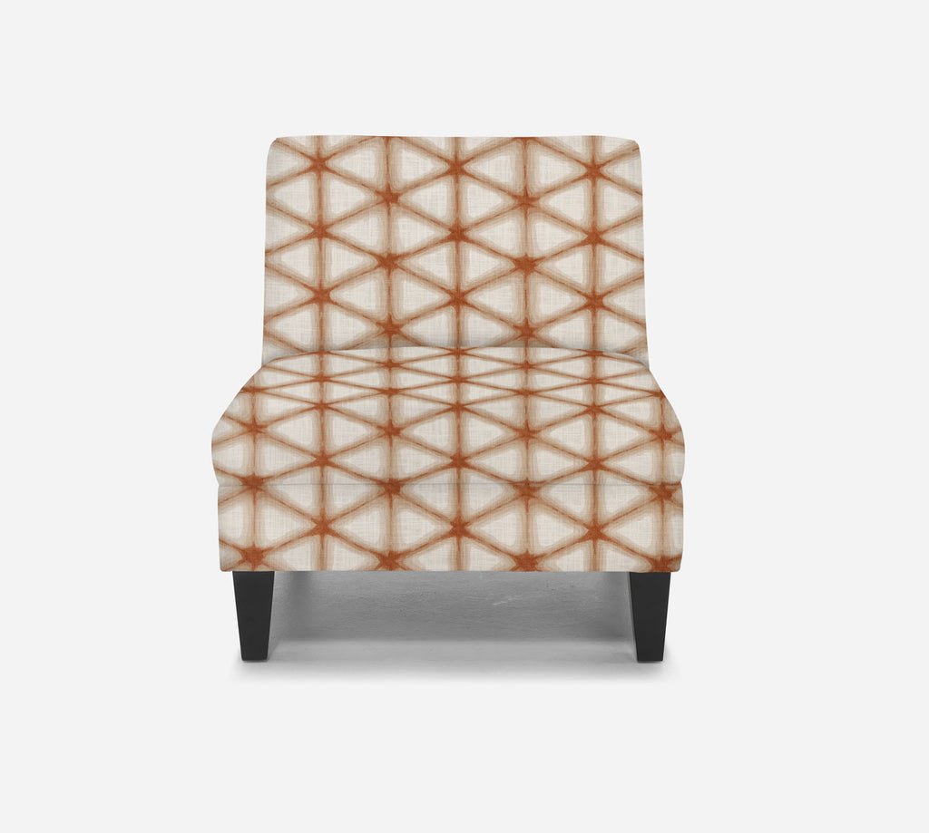 Kennedy Armless Accent Chair - Shibori - CORAL CAY