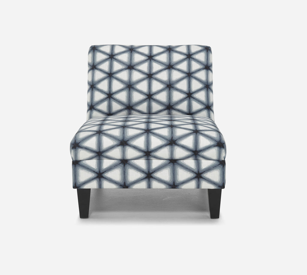 Kennedy Armless Accent Chair - Shibori - INK