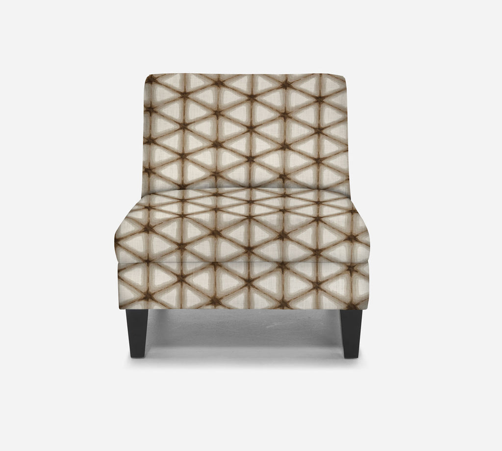 Kennedy Armless Accent Chair - Shibori - IRONWOOD